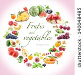 fruits and vegetables  food... | Shutterstock . vector #140048485