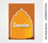 ramadan kareem background for...   Shutterstock .eps vector #1400493764