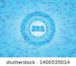 couch icon inside sky blue... | Shutterstock .eps vector #1400535014