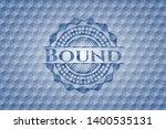 bound blue emblem or badge with ... | Shutterstock .eps vector #1400535131