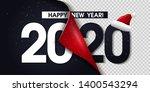 2020 happy new year black... | Shutterstock .eps vector #1400543294