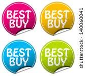 best buy sticker set | Shutterstock . vector #140060041