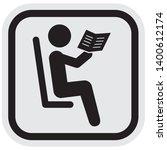 black silhouette of reader at... | Shutterstock .eps vector #1400612174