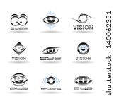 set of eyes icons. | Shutterstock .eps vector #140062351