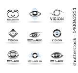 Set Of Eyes Icons.