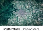 High resolution satellite image of Peking metropolitan area, China, background map, aerial view, contains modified Copernicus Sentinel data [2018]