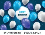 happy birthday background with...   Shutterstock .eps vector #1400653424