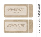 vintage paper tickets with... | Shutterstock . vector #140066401