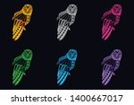 glow color owl from abstract... | Shutterstock .eps vector #1400667017
