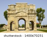 triumphal arch of orange ... | Shutterstock . vector #1400670251