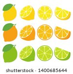 fresh lemon  lime  orange... | Shutterstock .eps vector #1400685644