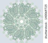 round composition with swirls | Shutterstock .eps vector #140069725