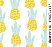seamless fruit pattern with... | Shutterstock .eps vector #1400711687