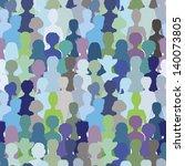 crowd. seamless pattern  blue... | Shutterstock . vector #140073805