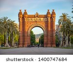 the arc de triomf is a... | Shutterstock . vector #1400747684
