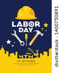labor day engineer cap with... | Shutterstock .eps vector #1400750891