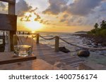 relaxing time and sunset at the ... | Shutterstock . vector #1400756174