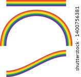 set of rainbow illustrations... | Shutterstock .eps vector #1400756381