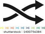 curved two way intersecting... | Shutterstock .eps vector #1400756384