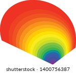 radial form with the visible... | Shutterstock .eps vector #1400756387