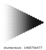 halftone arrow with fading... | Shutterstock .eps vector #1400756477