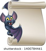 a cute halloween vampire bat... | Shutterstock .eps vector #1400784461