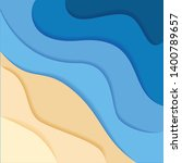 abstract blue sea and beach... | Shutterstock .eps vector #1400789657