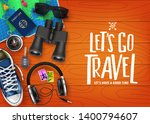 let's go travel 3d realistic... | Shutterstock .eps vector #1400794607
