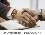handshake of customer... | Shutterstock . vector #1400804744