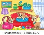 cute dog theme image 2   eps10... | Shutterstock .eps vector #140081677