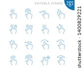 touch gestures related icons.... | Shutterstock .eps vector #1400829221