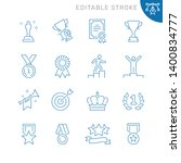 awards related icons. editable... | Shutterstock .eps vector #1400834777