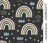 seamless cute pattern for kids  ...   Shutterstock .eps vector #1400841077