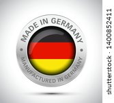 made in germany flag metal icon    Shutterstock .eps vector #1400852411