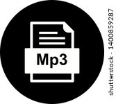 mp3 file document icon in... | Shutterstock . vector #1400859287