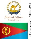 flag of eritrea  state of... | Shutterstock .eps vector #1400875214