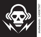 skull music   vector logo sign... | Shutterstock .eps vector #140087587