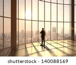 Businessman Speaking At Sunset...