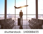 businessman in airport and... | Shutterstock . vector #140088655