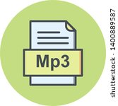 mp3 file document icon in... | Shutterstock . vector #1400889587