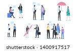 people talk man woman dialog... | Shutterstock .eps vector #1400917517