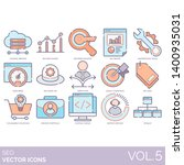 seo icons including hosting ... | Shutterstock .eps vector #1400935031