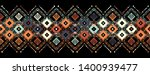 ikat seamless pattern. tribal... | Shutterstock .eps vector #1400939477
