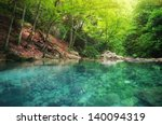 lake in forest. nature... | Shutterstock . vector #140094319