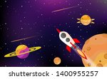rockets fly in space with... | Shutterstock .eps vector #1400955257