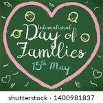 blackboard with cute chalk... | Shutterstock .eps vector #1400981837