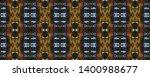 tibetan fabric. dark neon... | Shutterstock . vector #1400988677