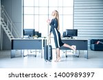 tourist concept  caucasian... | Shutterstock . vector #1400989397