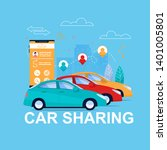car sharing online. automobile... | Shutterstock .eps vector #1401005801
