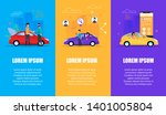 car service vertical banner set.... | Shutterstock .eps vector #1401005804